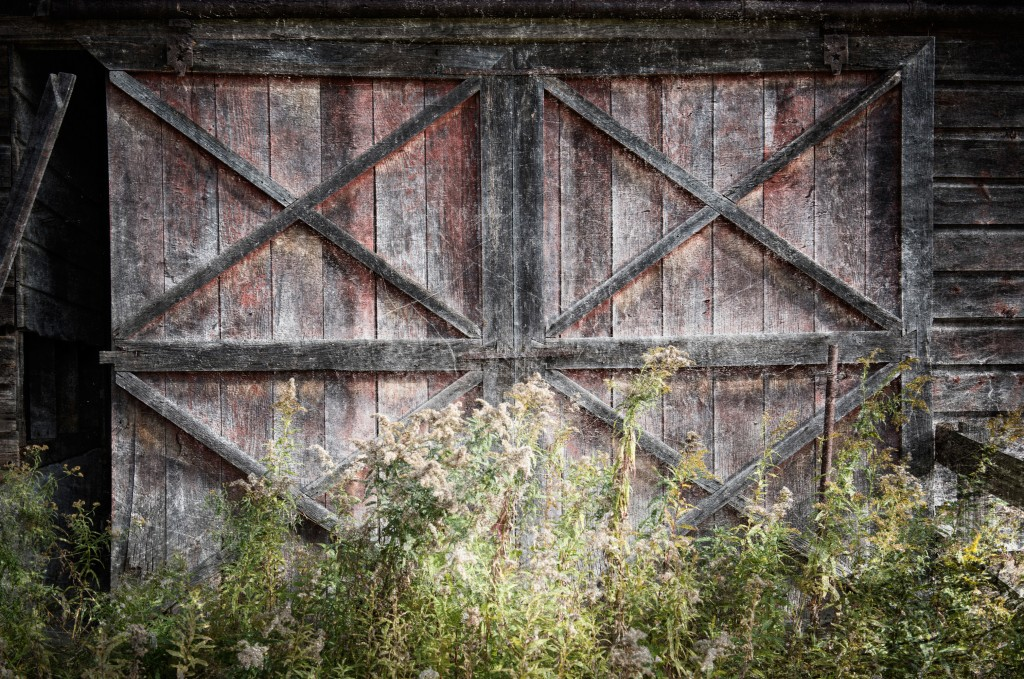 Old barn door, Sharon, Conn