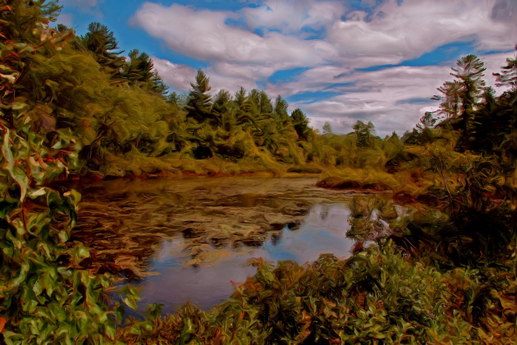 Reflections of a New Hampshire Sky