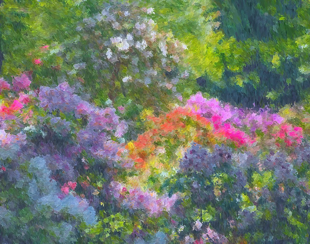 Summer Gardens (Homage to Monet)