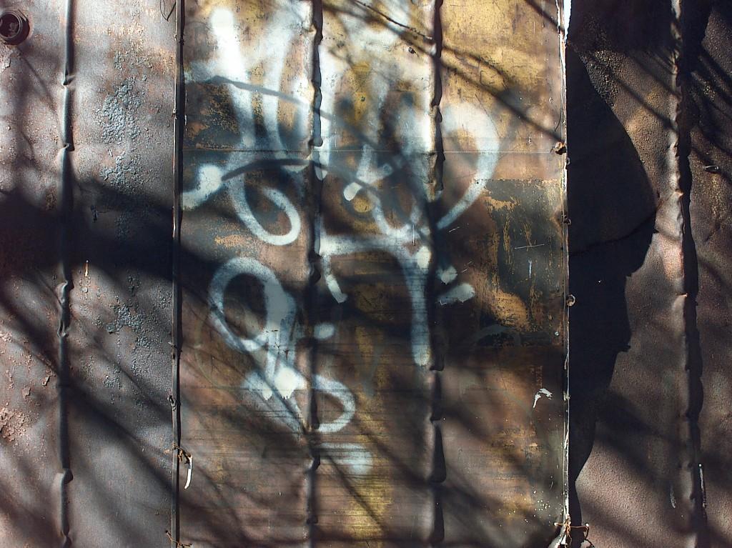Metal Slat Fence, Jerome Ave